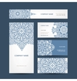 Business cards collection floral design vector image vector image