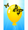 Butterflies and balloon vector image
