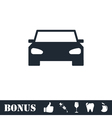 Car icon flat vector image vector image