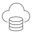 cloud computing thin line icon data analytics vector image