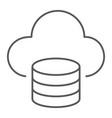 cloud computing thin line icon data analytics vector image vector image