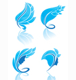 collection of blue beauty vector image