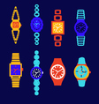 collection of fashion watch vector image