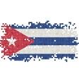 Cuban grunge tile flag vector image
