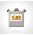 Digital stopwatch flat color icon vector image