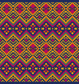 ethnic mexican peruvian pattern with geometric vector image