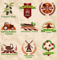 farm agriculture icons labels collection set2 vector image vector image