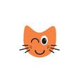 flashing cat emoticon logo concept vector image