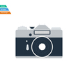 Flat design icon of retro photo camera vector image