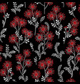 floral winter tile pattern leaves and flowers vector image vector image