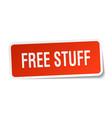 free stuff square sticker on white vector image vector image