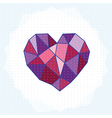 geometry heart vector image