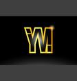 gold black alphabet letter ym y m logo vector image vector image