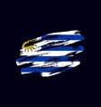 grunge textured uruguayan flag vector image vector image