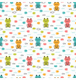 hand drawn seamless pattern with cute cartoon vector image vector image