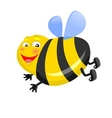 happy bee vector image vector image