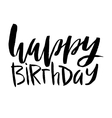 Happy birthday lettering Inscription isolated on vector image
