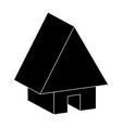 house web icon silhouette symbol icon design vector image