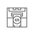 insert credit card bank atm cash dispenser vector image