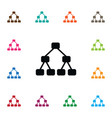 isolated hierarchy icon team element can vector image vector image