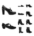 isolated object of footwear and woman sign vector image
