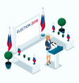 isometry is a woman president voting elections vector image vector image