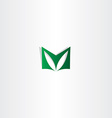 letter m green logotype sign logo m icon vector image vector image