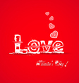 Love valentine typography vector image vector image