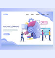 machine learning website landing page vector image vector image