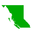 Map of British Columbia vector image vector image