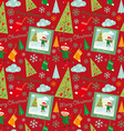 merry christmas pattern boys vector image