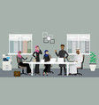 muslim male and female in workplace vector image vector image