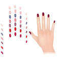 nail polish in different fashion colors nail care vector image vector image