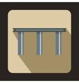 Narrow bridge icon flat style vector image vector image