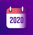 new year 2020 calendar icon vector image vector image