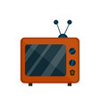 old retro vintage tv flat cartoon vector image vector image