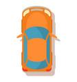 orange car icon cartoon style vector image vector image