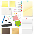Paper and office supplies vector image