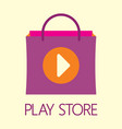 play store vector image vector image