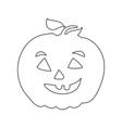 pumpkin outline icon symbol design vector image