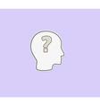 question mark in head vector image vector image