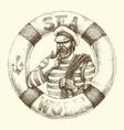 sailor graphic portrait vector image