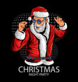 santa claus at christmas party dance and music vector image