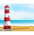 Sea and light house vector image