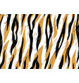 seamless pattern with decorative tiger print vector image