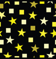 seamless pattern with yellow stars and squares vector image