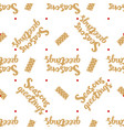 seasons greeetings seamless pattern vector image vector image