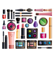Set of cosmetics vector image vector image