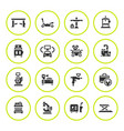 set round icons car service equipment vector image