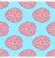 Sketch brain in vintage style vector image vector image